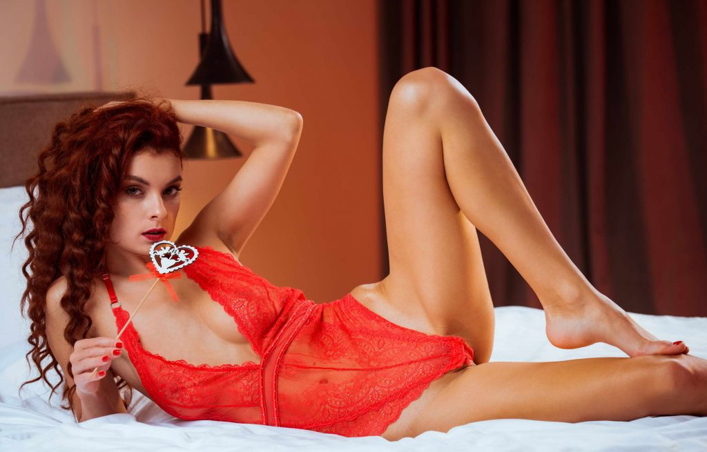 threesome with London escorts - girl with fire in the head